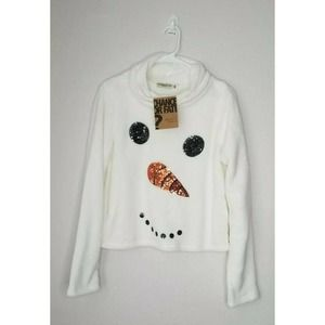 Chance or Fate Super Soft Snowman Sweater Size L